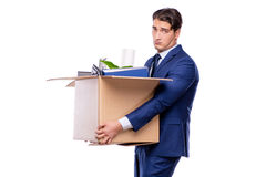 The businessman made redundant fired after dismissal Royalty Free Stock Image