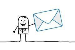 Businessman & mail stock illustration