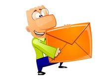 Businessman - Mail delivery Royalty Free Stock Photography