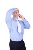 Businessman Make A Phone Call Stock Photo