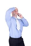 Businessman make a phone call Stock Photo
