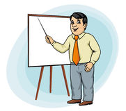 Businessman make presentation Stock Images