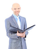 Businessman makes a record. Royalty Free Stock Photography