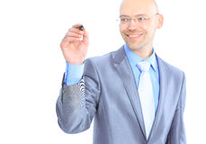 Businessman makes a record. Stock Images