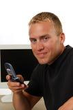 Businessman making a call Stock Photos