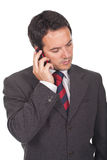 Businessman making a call on his cellphone Stock Images