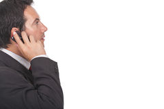 Businessman making a call on his cellphone Royalty Free Stock Photography