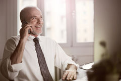 Businessman making a call Royalty Free Stock Photos