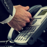 Businessman making a call on a telephone Royalty Free Stock Photos