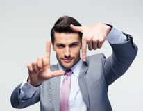Businessman making frame gesture Royalty Free Stock Image