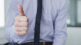 Businessman making gestures with his hands. stock video