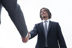 Close up image of business handshake at meeting. Stock Photography