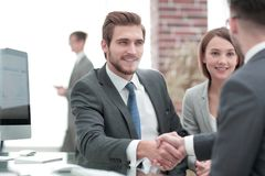 Introduce new member of the working team. royalty free stock images