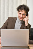 Businessman making a phone call Stock Photography