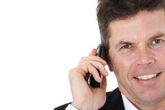 Businessman making phone call Stock Image