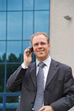 Businessman making phonecall Stock Images