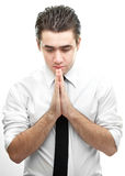 Businessman making a prayer Royalty Free Stock Photography