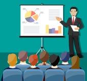 Businessman making presentation Stock Photos