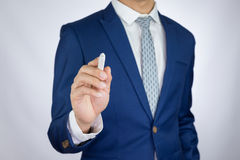 Businessman making presentation Stock Photo