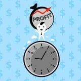 Businessman making profit Stock Image