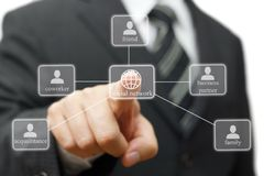 Businessman is making Social network for career Royalty Free Stock Image