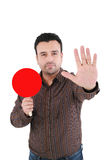 Businessman making stop sign Royalty Free Stock Image
