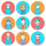 Businessman Male and Female Avatars Director Stock Images