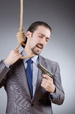 Businessman man with  gun Stock Photography