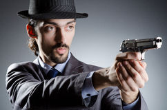 Businessman man with  gun Royalty Free Stock Images
