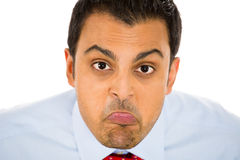 Businessman, man, or student sticking his tongue out at you, Stock Photography