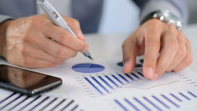 Businessman Man Working At Office stock footage