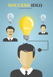 Businessman or manager, man in a suit come up with an idea Stock Images