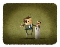 Businessman manipulating puppet Royalty Free Stock Images