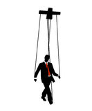 Businessman mannequin. Vector illustration as two tone silhouette of businessman as mannequin. related to the financial world and crisis Royalty Free Stock Image