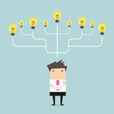 Businessman many idea to success concept Stock Photos