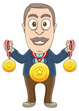 Businessman - Many prizes Stock Images