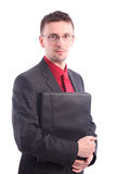 Businessman with map documents Stock Photography