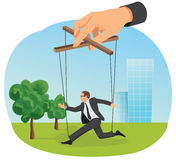 Businessman marionette Royalty Free Stock Photo