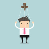 Businessman marionette on ropes Stock Image