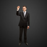 Businessman with marker Royalty Free Stock Photos