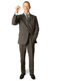 Businessman with marker Stock Photography
