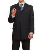 Businessman with marker Royalty Free Stock Image