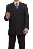 Businessman with marker Royalty Free Stock Images