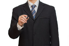 Businessman with marker Stock Images