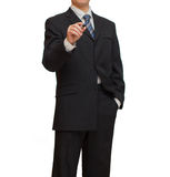 Businessman with marker Stock Photo