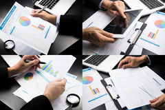 Businessman marketing accounting .montage style Royalty Free Stock Photos