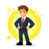 Businessman Mascot Character Royalty Free Stock Photography