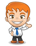 Businessman  mascot doing presentation Stock Photo