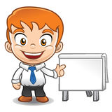 Businessman  mascot doing presentation Stock Photography
