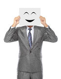 Businessman with mask Stock Photo